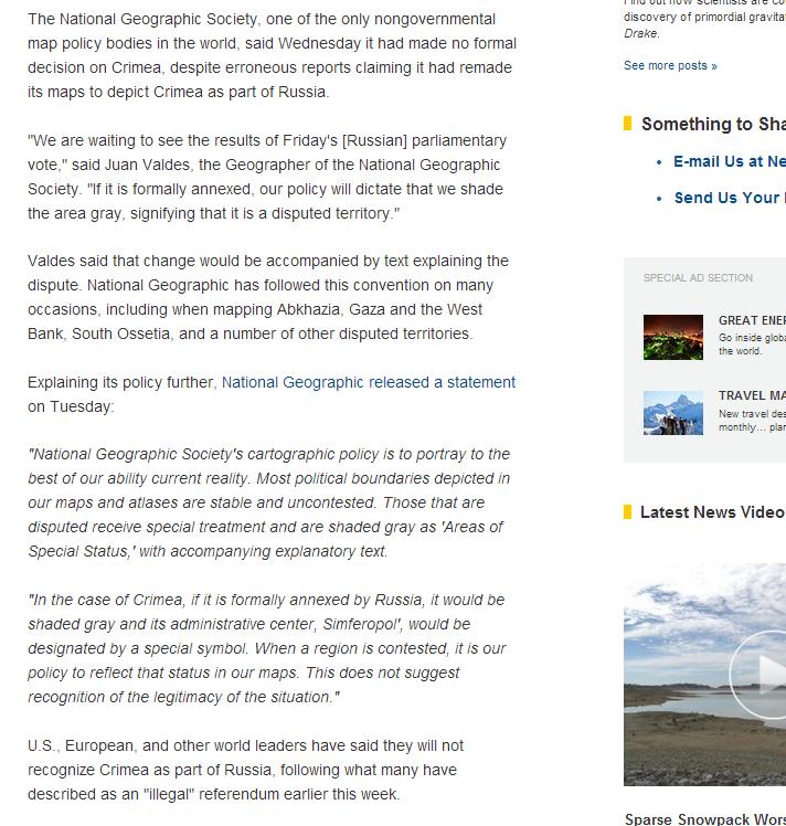National Geographic Crimea