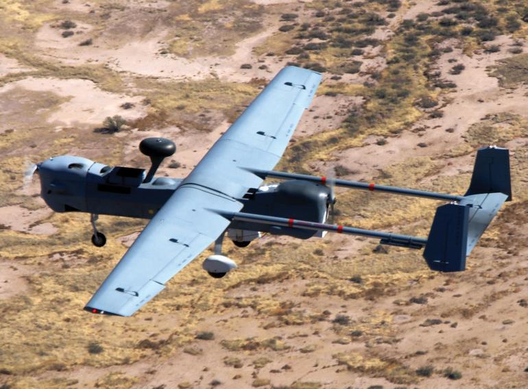 MQ-5B Hunter в полете