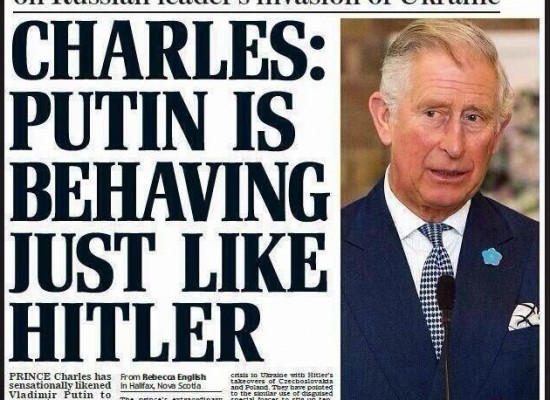 Fake: Prince Charles Apologised for Comparing Putin with Hitler