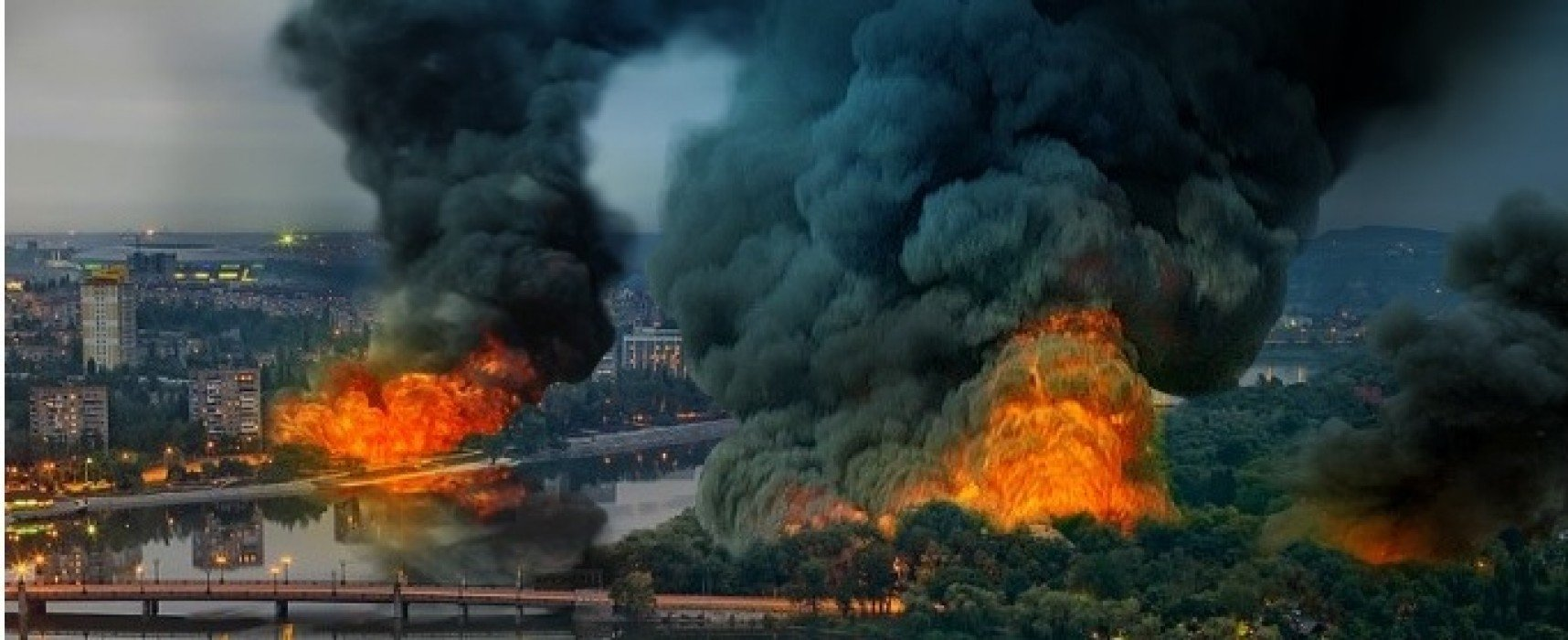 В Сети распространяется фейковое фото горящего Донецка