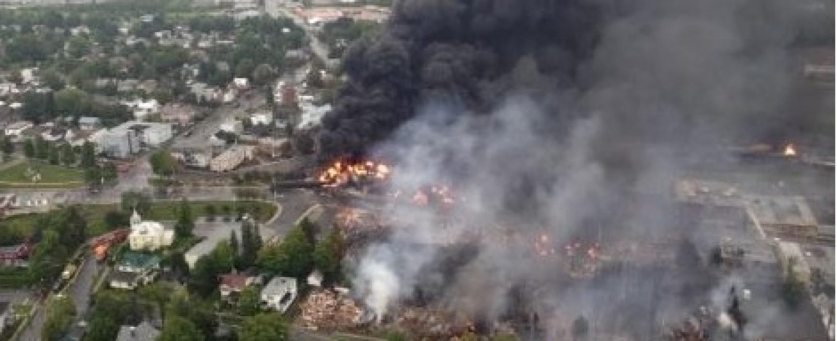 Фото Квебека после аварии состава с горючим представили как Славянск