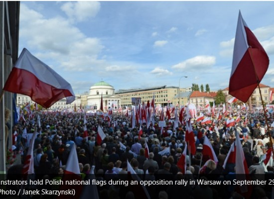 Fake: Protest to Rejoin Poland in Ternopil