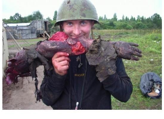Фото со съемок российского фильма 2008 года представляется как актуальные события в Украине