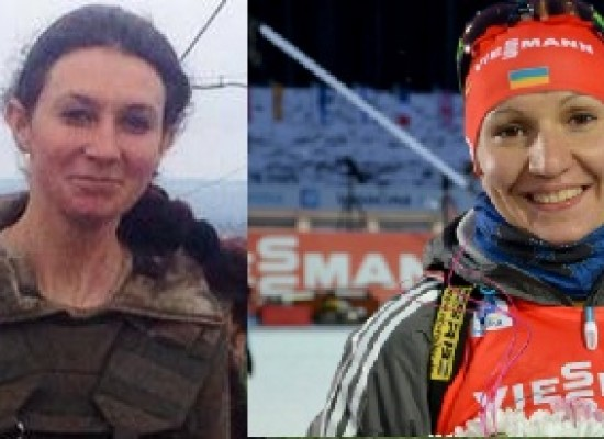 Fake: Ukrainian biathlonist Olena Pidhrushna kills children in Sloviansk