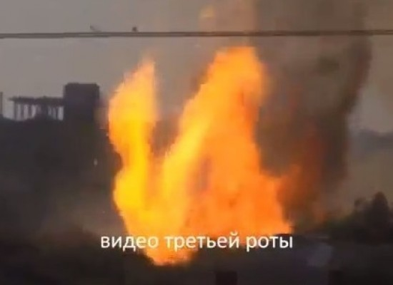 Faked video of a Russian tank blown up by the National Guard appeared in Internet