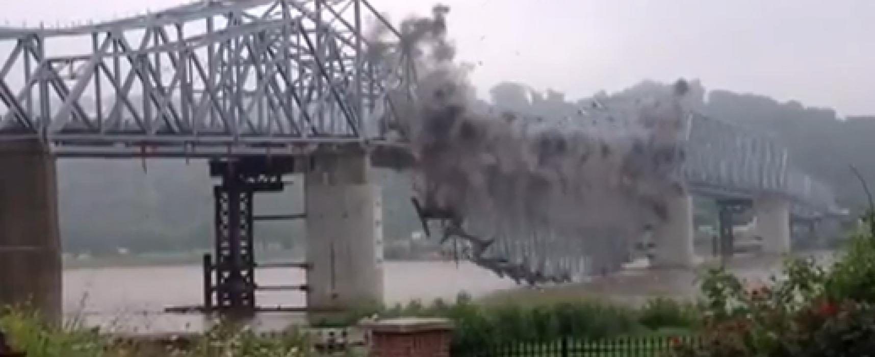 В Сети распространяется фейковое видео взорванного в Запорожской области моста