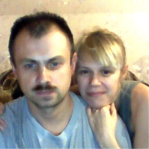 Галина с мужем-ополченцем