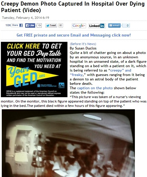 Скриншот сайта beforeitsnews.com