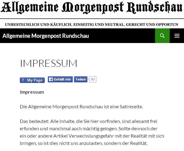 Скриншот сайта Allgemeine Morgenpost Rundschau