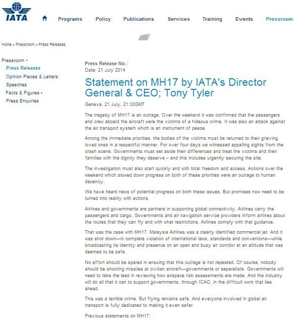 Скриншот сайта iata.org