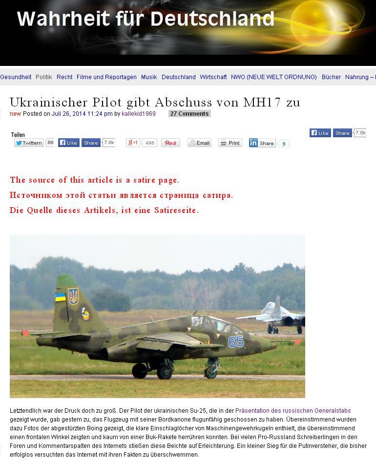 Скриншот сайта Wahrheit für Deutschland