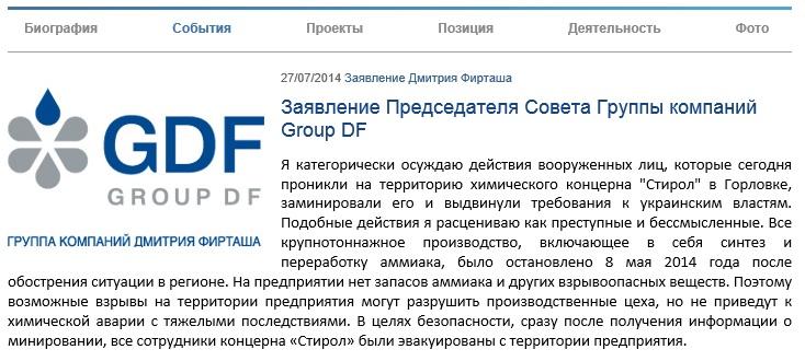 Сайт dmitryfirtash.com