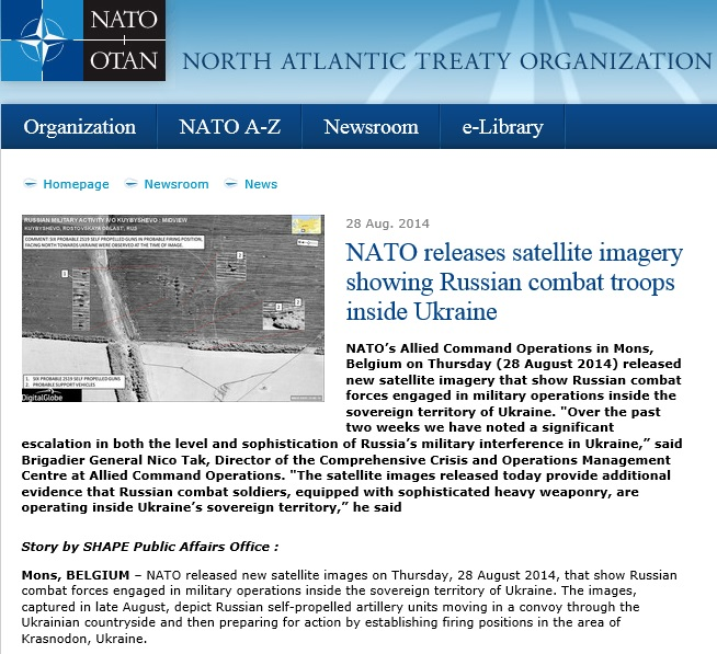 A screenshot from nato.int