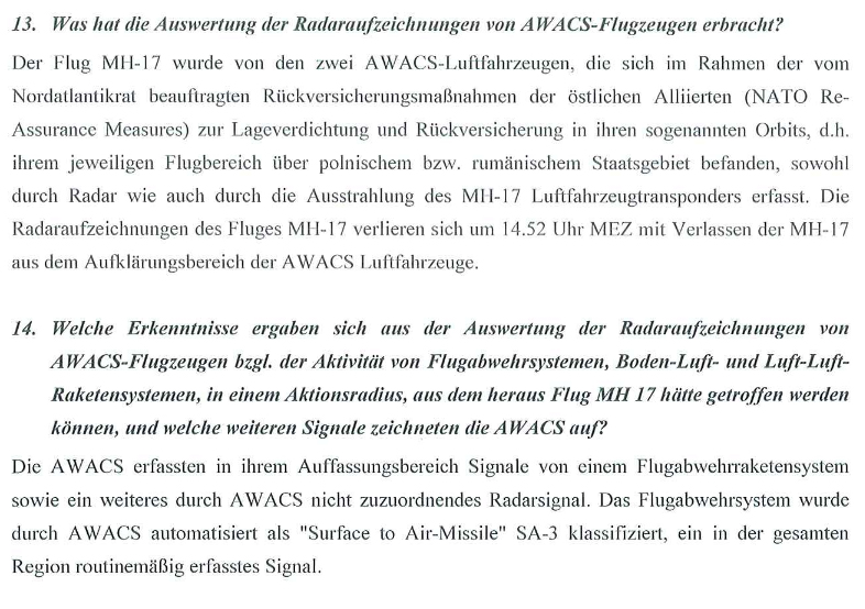The screenshot of the document, published by German Ministry of Foreign Affairs