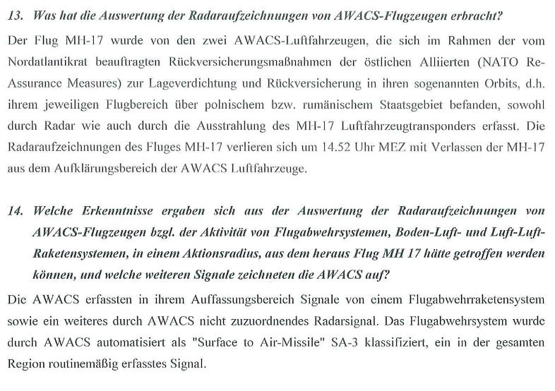 Скриншот документа, опубликованного немецким МИДом