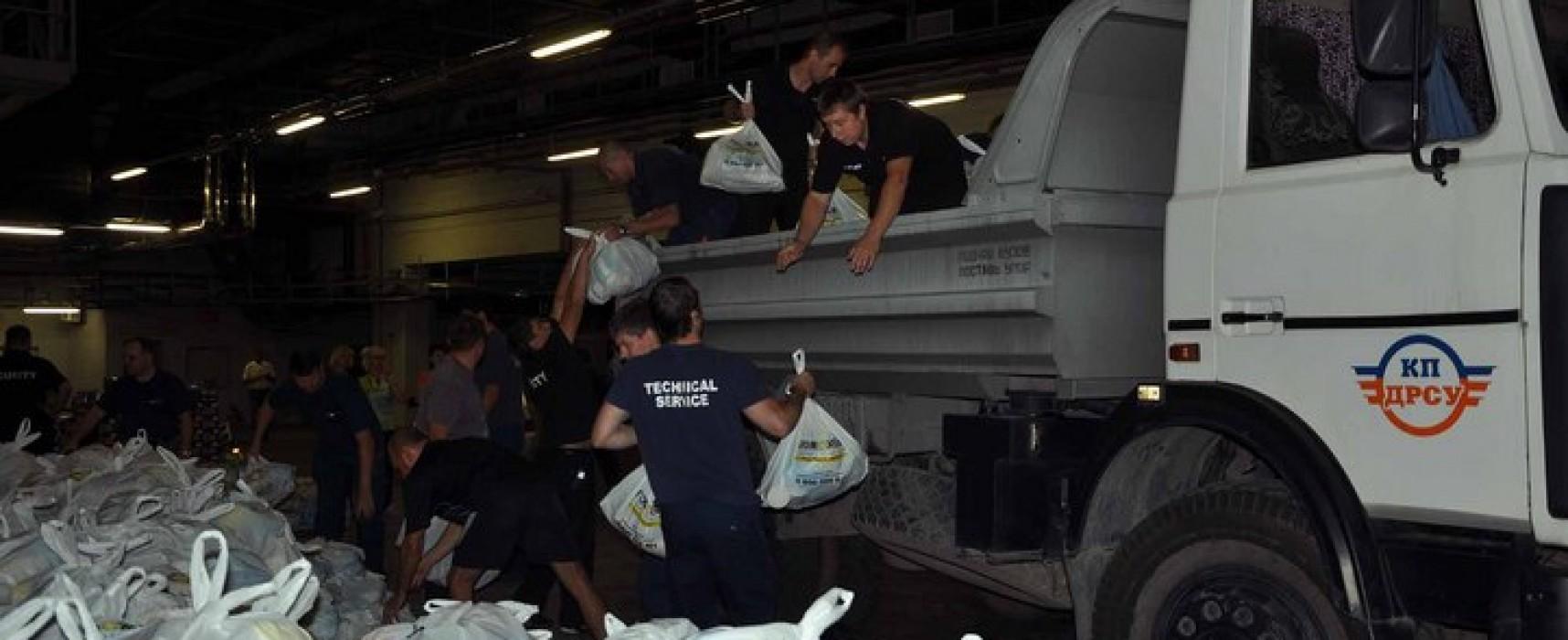 NTV's fake about Humanitarian aid on Donbas Arena Stadium