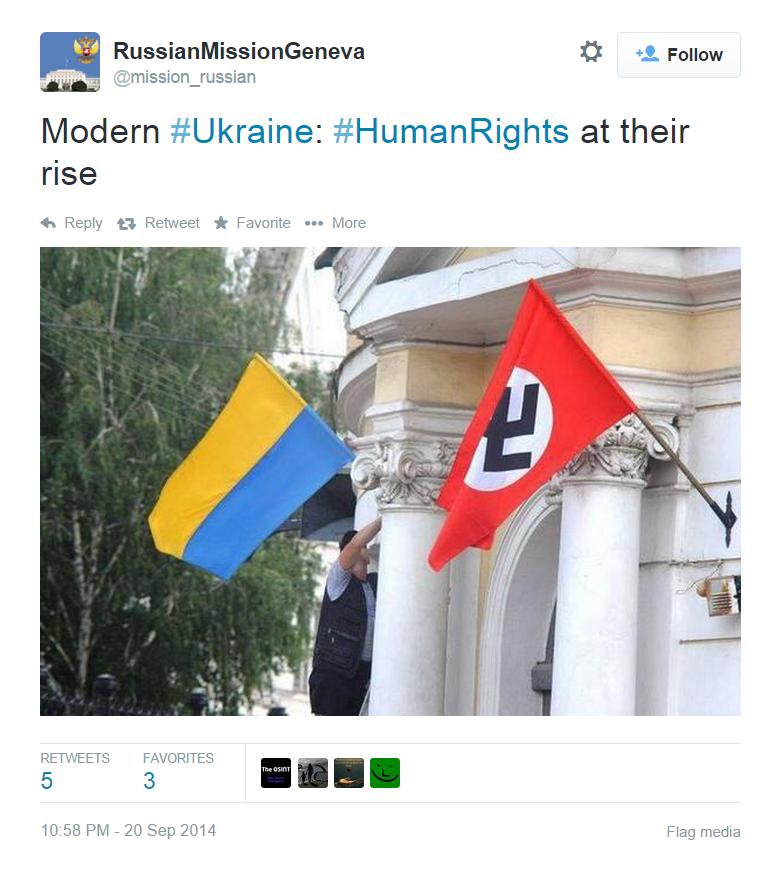 Официальный Твиттер консульства РФ в Женеве