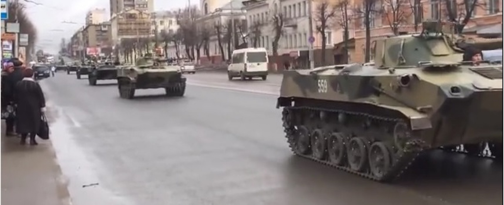 Spring Video Showing a Column of Russian Military Machines is Presented as a Current Event