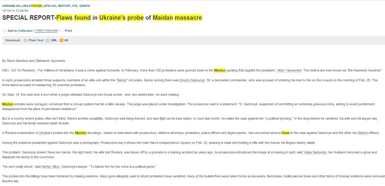 Скриншот reuters.com