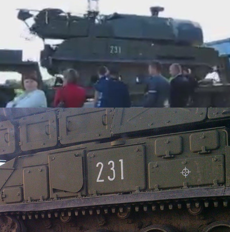 Top, Buk 231 in the June convoy. Bottom, Buk 231 in Vasily Ilyin's June 25th photograph.