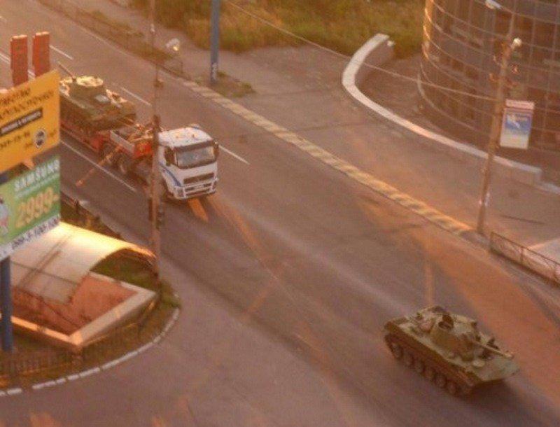 Photograph from Makiivka, Ukraine, published August 6, 2014.