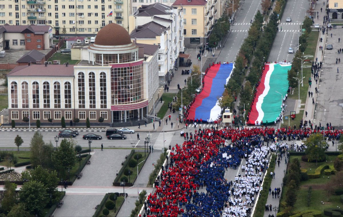 President Vladimir Putin's birthday march