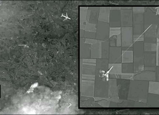 Lies: Russian Channel One Demonstrated a Satellite Image of the Malaysian Boeing Being Attacked