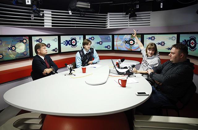 Эфирная студия «Эха Москвы» Фото: Михаил Джапаридзе / ТАСС / Corbis / All Over Press