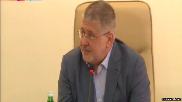 A Russian TV screen grab of Ihor Kolomoisky, the target of frequent attacks in Russian media