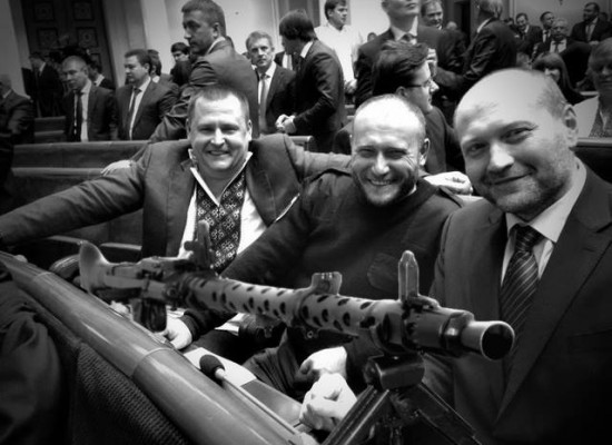 Fake: Dmytro Yarosh came with a Machine Gun to the Verkhovna Rada Meeting