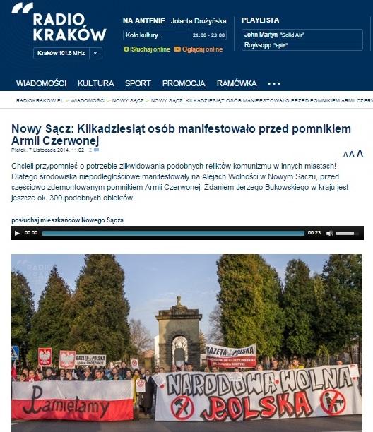 Скриншот сайта radiokrakow.pl