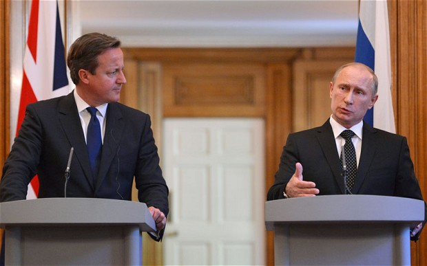 Mr Cameron will on Saturday night challenge Mr Putin about Russia's continued acts of aggression in the Ukraine