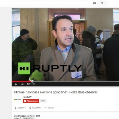 Italian Party Refuted Information About Its Observers on the Pseudoelections in Donbas