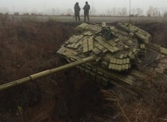 "Fake: Anti-Russian Ditch ""Caught"" Ukrainian Tanks"