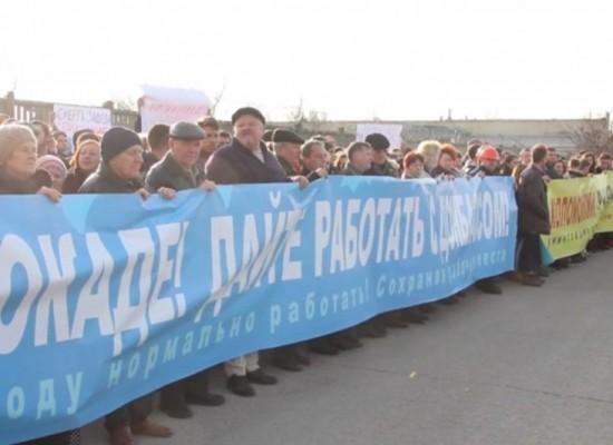 Видео «массовой забастовки» Одесского припортового завода снимали в Крыму