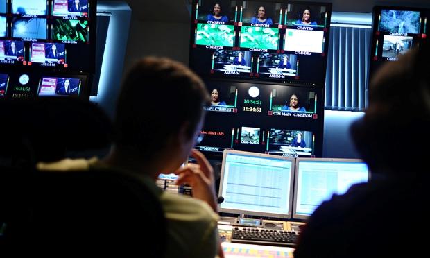 The studio control room of Russia Today. Photograph: Dzhavakhadze Zurab/ Dzhavakhadze Zurab/ITAR-TASS Photo/Corbis
