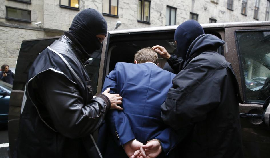 Caught Red Handed: Two men were arrested by polish authorities on suspicion of spying for the Russian government in October.  Kacper Pempel/Reuters