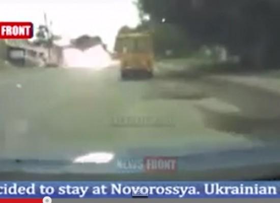 Video Fake: Explosion on the Road to Komsomolske