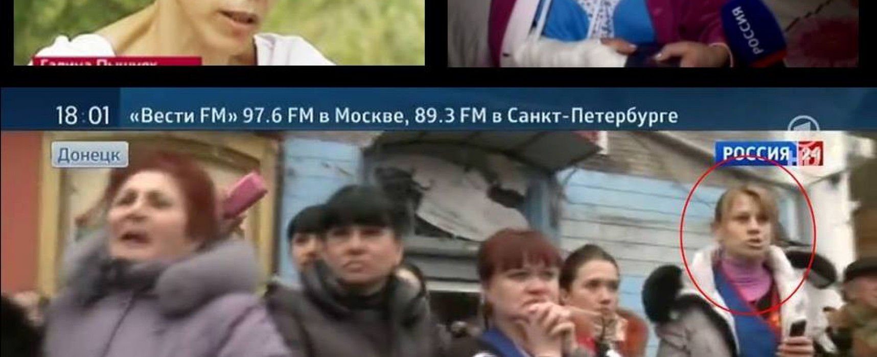 "Fake: Infamous Heroine of the ""Sloviansk Boy's Crucifixion"" Report Found Among the ""Victims"" of the Explosion in Donetsk"