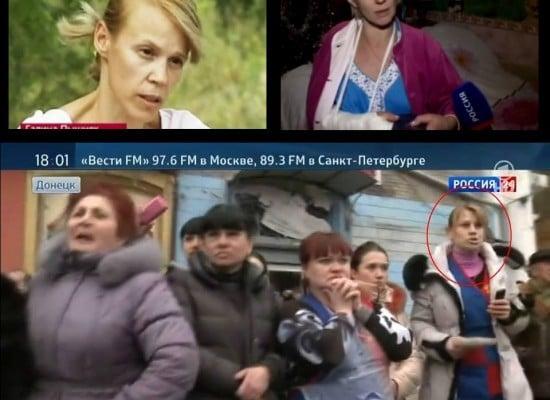 Фейк: Героиня сюжета о «распятом мальчике» в Славянске  оказалась среди «жертв» взрыва в Донецке
