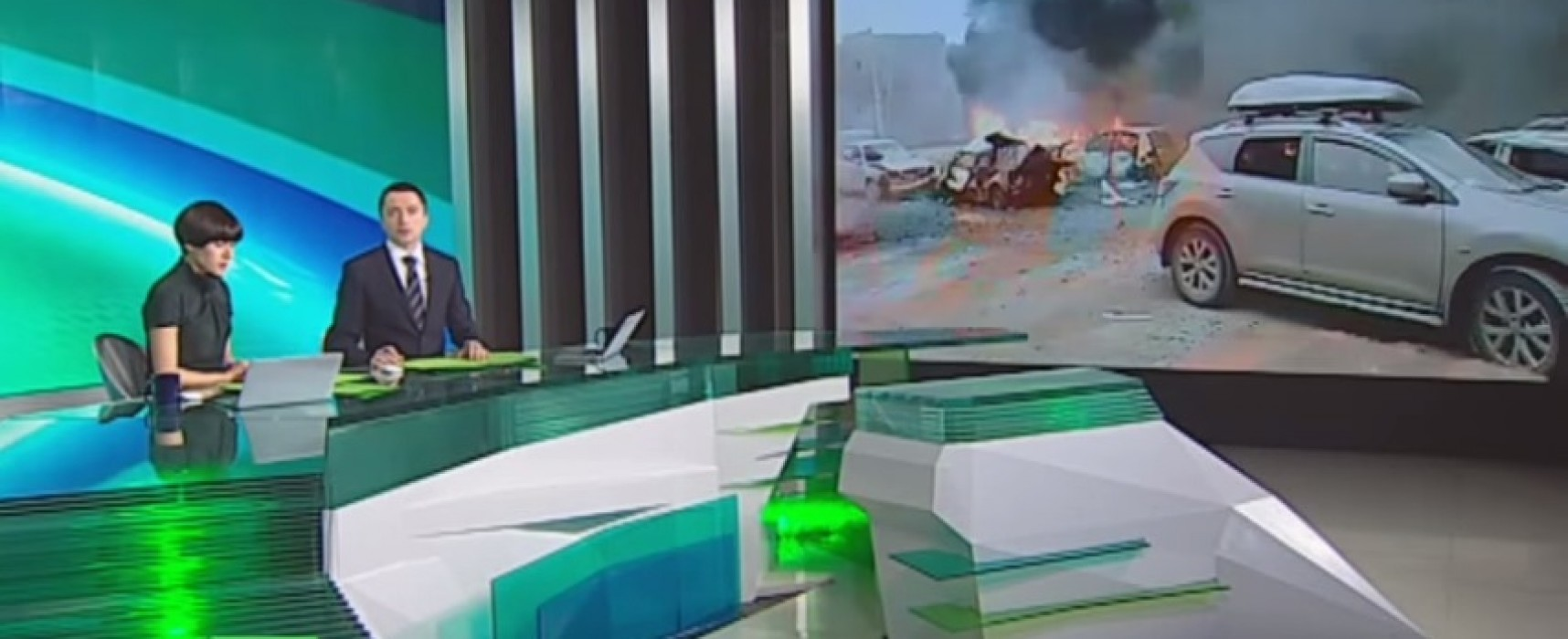 NTV Channel Presented Old Video from Mariupol as the Latest News about Shelling of Donetsk