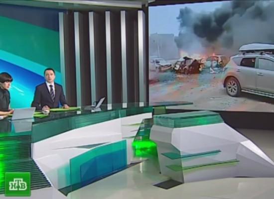 Канал НТВ представил старые кадры из Мариуполя как свежее видео обстрела Донецка