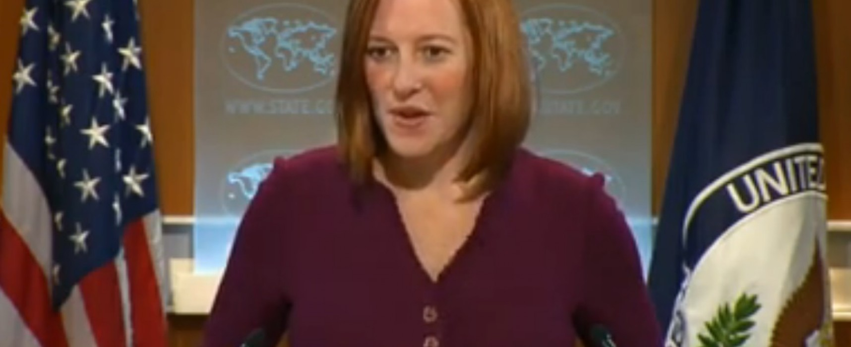 Lies of the Channel One: Jen Psaki Could not Provide Information About the Shelling of the Trolleybus in Donetsk