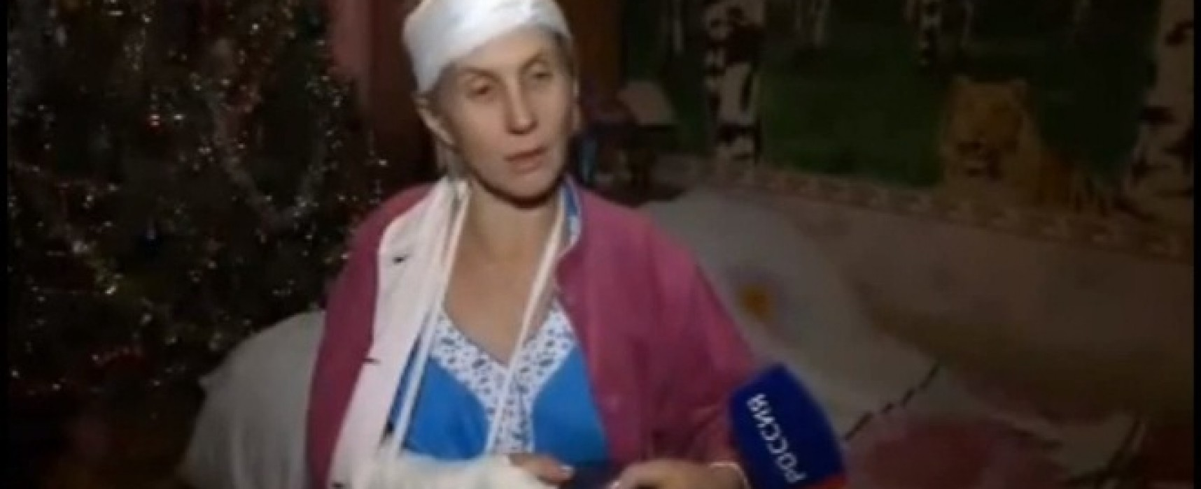 """Unrecorded"" Victim of the Shelling near Volnovakha on Russia One TV Channel"