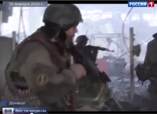 """""""Vesti Nedeli"""" with Dmitry Kiselev showed Russian soldiers in Donetsk airport"""