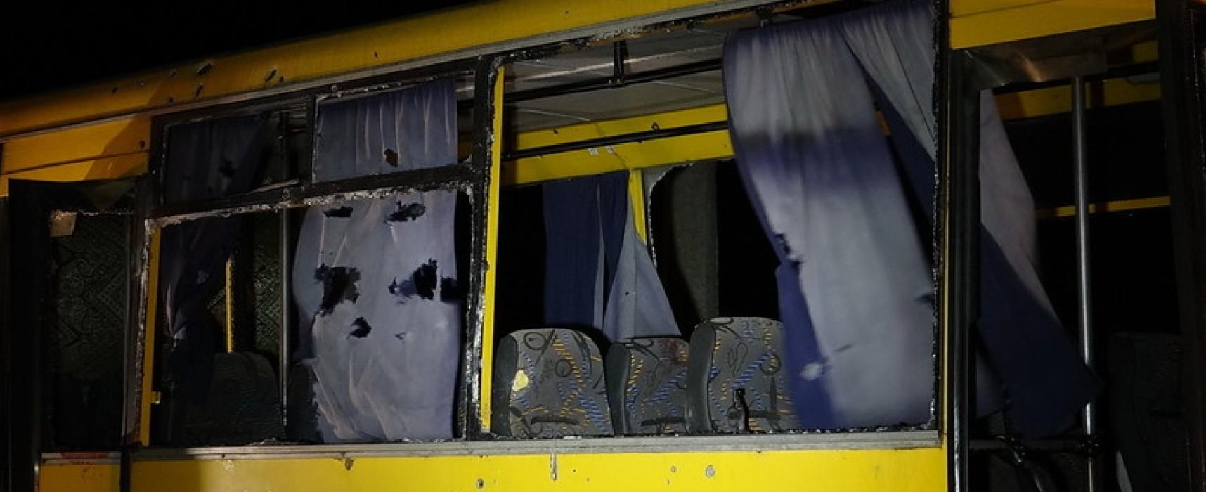 Фейк: пострадавший под Волновахой автобус был изрешечен пулями (фото, 18+)