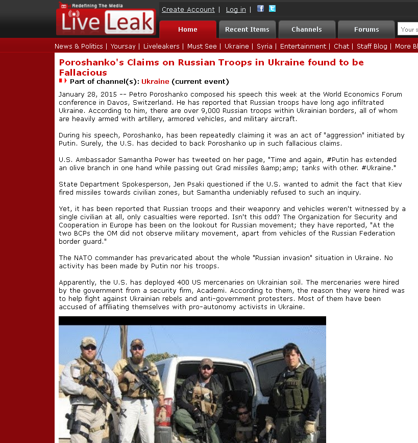 LiveLeak website screenshot