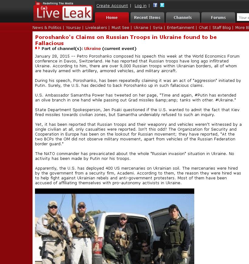 LiveLeak website screenshot