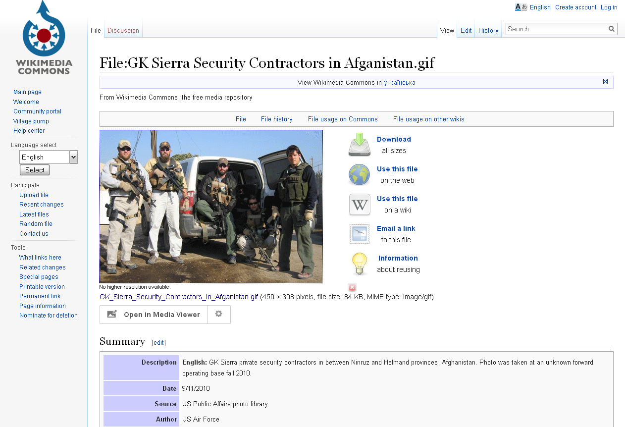 wikimedia.org website screenshot