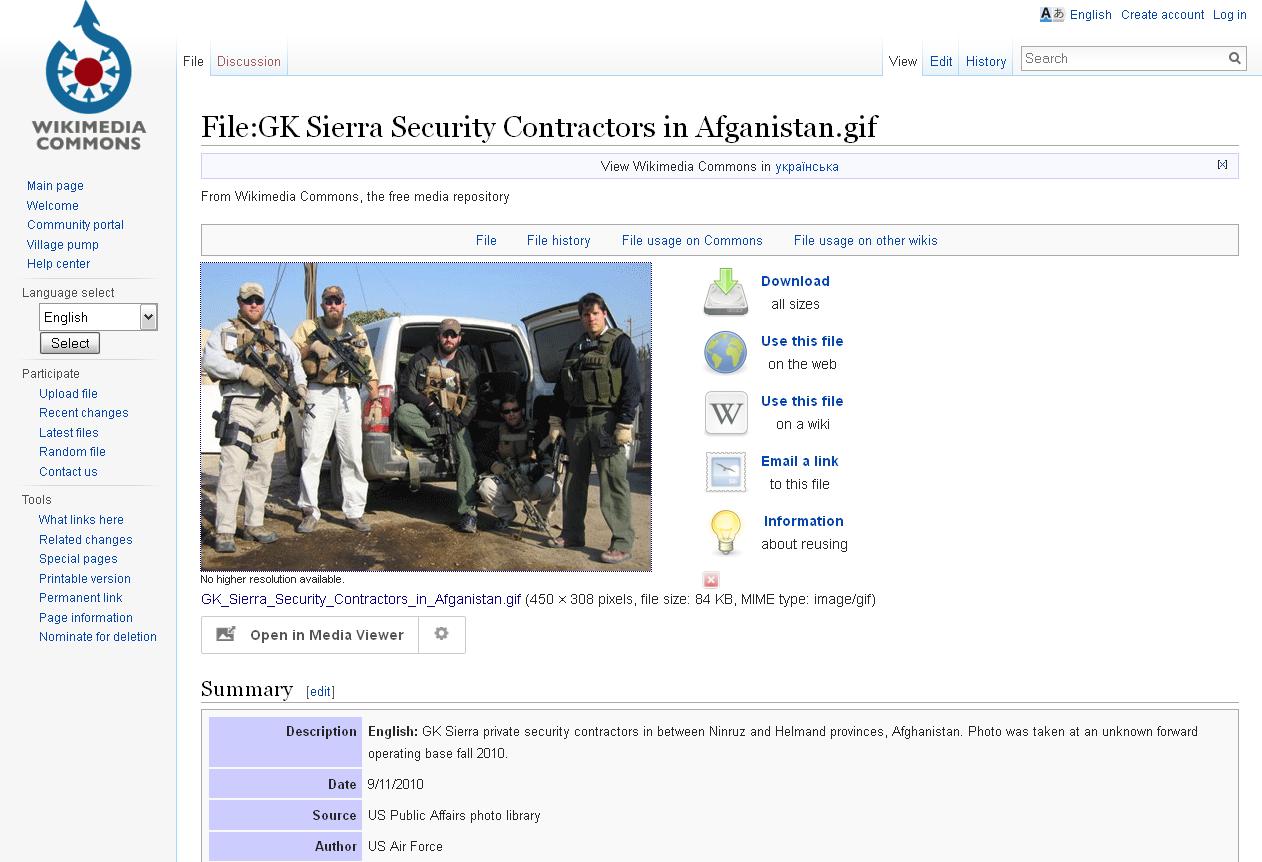 wikimedia.org website screenshot